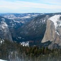 The view from Sentinel Dome extends to El Capitan and western Yosemite Valley.- Glacier Point Cross-Country Ski
