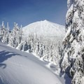Mount Bachelor in the distance on the skin up to Kwohl Butte.- Kwohl Butte Backcountry Ski
