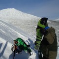 Transitioning with Mount Bachelor in the background.- Kwohl Butte Backcountry Ski