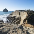 Cape Kiwanda State Natural Area and Haystack Rock out in the distance.- Pacific City