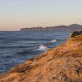 View north to Cape Lookout from Cape Kiwanda.- Pacific City