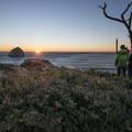Sunset at Cape Kiwanda State Natural Area.- Pacific City