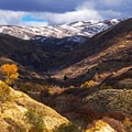View of the upper reaches of City Creek Canyon.- City Creek Canyon Road Cycling