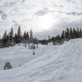 A small sledding hill on the way to the Matrimony Tree.- Matrimony Tree Snowshoe