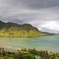 The first view of Kahana Bay as you begin to climb.- Pu'u Manamana Turnover Trail