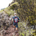 The trail gets more and more sketchy as you head up.- Pu'u Manamana Turnover Trail