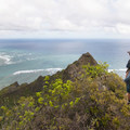 Looking north toward the town of Punalu'u on the way to the famous North Shore.- Pu'u Manamana Turnover Trail
