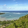 A bright and sunny day at the end of the hike.- Pu'u Manamana Turnover Trail