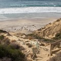 Lower section of trail and Black's Beach.- Black's Beach via Gliderport Trail