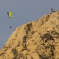 Paragliders can be seen launching from the gliderport.- Black's Beach via Gliderport Trail
