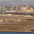 Halsey Field/North Island Naval Air Station with downtown San Diego beyond.- Cabrillo National Monument