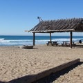 Shaded picnic areas at San Onofre Surf Beach.- San Onofre State Beach