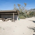 Picnic shelter at Eaton Canyon Natural Area and Nature Center.- Eaton Canyon Natural Area + Nature Center
