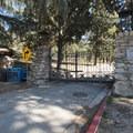 Trailhead for Echo Mountain/Inspiration Point at the old Cobb Estate gate.- Echo Mountain Hike via Sam Merrill Trail