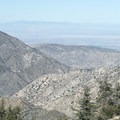 View north into the western Mojave Desert from the Angeles Crest Highway.- Angeles Crest Highway