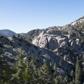 Granite crags off of the Angeles Crest Highway near Jarvi Memorial.- Angeles Crest Highway