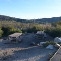 Typical campsite at Little Pines Campground.- Chilao Campground, Little Pines Loop
