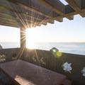Picnic terrace at Point Fermin Park.- Point Fermin Park