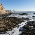 Rocky shore and tide pools at Cabrillo Beach.- Cabrillo Beach