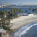 View of Cabrillo Beach looking east toward Long Beach.- Cabrillo Beach