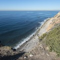 View of shoreline 160 feet below Point Vicente Lighthouse Park.- Point Vicente Lighthouse Park