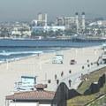 Redondo Beach looking north toward AES's natural gas power station.- Redondo Beach + Pier