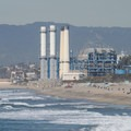 View north of the Chevron refinery from Manhattan Beach Pier.- Manhattan Beach + Pier