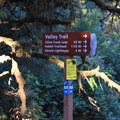 Trailhead sign for the Valley Trail.- Heceta Head Trail