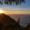 The view west from the summit of Heceta Head.- Heceta Head Trail