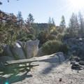 Walk-in campsite at Chilao Campground, Manzanita Loop.- Chilao Campground, Manzanita Loop