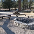 Communal fire ring at Upper Chilao Day Use Picnic Area.- Upper Chilao Day Use Picnic Area