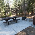 ADA-accessible campsite at Buckhorn Campground.- Buckhorn Campground