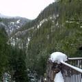 Overlooking Salt Creek Canyon.- Salt Creek Falls + Diamond Creek Falls Snowshoe