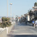 View north to The Strand in Hermosa Beach.- Hermosa Beach + Pier