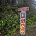 The Horse Creek South Trailhead sign.- Horse Creek South Trail Hike