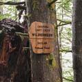 Posting when entering the Drift Creek Wilderness.- Horse Creek South Trail Hike
