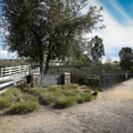 The parking area and summit trail begin immediately beside Ladera Vista Drive.- Panorama Park Summit Trail