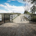 The gate is locked nightly at sunset.- Panorama Park Summit Trail