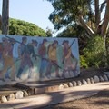 Murals tell the story of the site's history.- Presidio Park