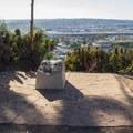 Cannon mounts overlook San Diego from the park.- Presidio Park