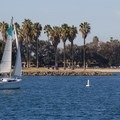 Sailing is popular on the calm waters of Mission Bay.- Mission Bay Park