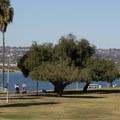 Bike and walking paths circumnavigate Mission Bay.- Mission Bay Park