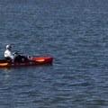 Kayak fishing in Mission Bay.- Mission Bay Park