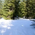 Trails in the area are well marked at the junctions.- Mountain View Shelter Snowshoe