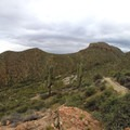 View of the trail to the Lower Ruin.- Tonto National Monument, Upper + Lower Ruins