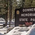 Donner Memorial State Park entrance.- Donner Memorial State Park Snowshoe