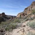 Hiking the trail to Black Cross Butte.- Black Cross Butte Hike