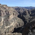 The views of Salt River Canyon to the east.- Black Cross Butte Hike