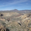 The views to the north, with Four Peaks (7659 ft) far in the distance.- Black Cross Butte Hike