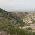 Looking down at Summit Road.- Telegraph Pass Hike